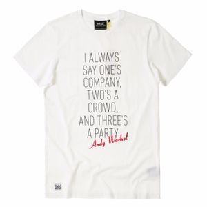 a5c9c9364f8e29 WeSC x Andy Warhol Quote Graphic Tee - NWT - M
